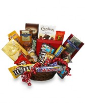 CHOCOLATE LOVERS' BASKET Gift Basket in Peterstown, WV | HEARTS & FLOWERS