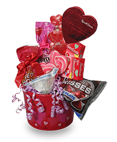 Candy Chocolate Bar And Cookie Bouquet Gift Basket