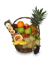 GOURMET FRUIT BASKET Gift Basket in Chicopee, MA | GOLDEN BLOSSOM FLOWERS & GIFTS