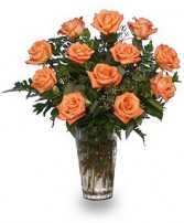 ORANGE BLOSSOM SPECIAL Vase of Orange Roses in West Hills, CA | RAMBLING ROSE FLORIST