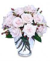 RARE BEAUTY Bouquet of Pale Pink Roses in Kansas City, MO | SHACKELFORD BOTANICAL DESIGNS