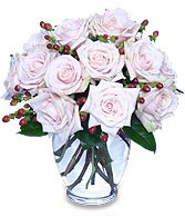 Rare Beauty Bouquet of Pale Pink Roses