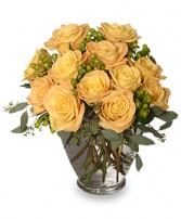 COOL YELLOW SUNRISE Yellow Roses Bouquet in Jasper, IN | WILSON FLOWERS, INC