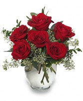 ROSEY ROMANCE Red Rose Bouquet Best Seller in Peachtree City, GA | BEDAZZLED