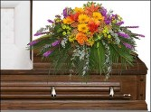 RADIANT MEDLEY CASKET SPRAY Funeral Flowers in Dallas, TX | MY OBSESSION FLOWERS & GIFTS
