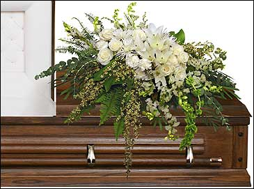 GARDEN ELEGANCE CASKET SPRAY Funeral Flowers in Olds, AB | THE LADY BUG STUDIO
