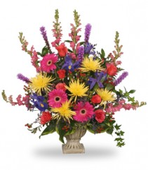 COLORFUL CONDOLENCES TRIBUTE  Funeral Flowers in Choctaw, OK | A WHISPERED WISH