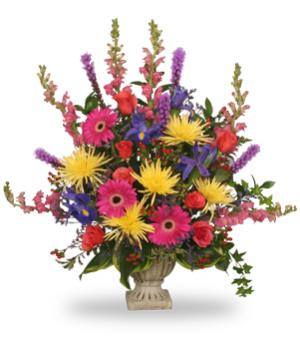 COLORFUL CONDOLENCES TRIBUTE  Funeral Flowers in Sayre, PA | PLANTS 'N THINGS
