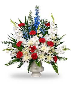 PATRIOTIC MEMORIAL  Funeral Flowers in Riverside, CA | Willow Branch Florist of Riverside
