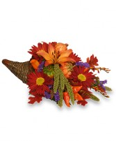 BOUNTIFUL CORNUCOPIA Thanksgiving Bouquet in Peru, NY | APPLE BLOSSOM FLORIST