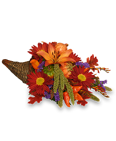 Bountiful Cornucopia Thanksgiving Bouquet in Burbank, CA | LA BELLA FLOWER & GIFT SHOP