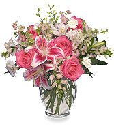 PINK & WHITE DREAMS Flower Arrangement