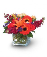 INDIAN SUMMER  Vase of Flowers in Baton Rouge, LA | TREY MARINO'S CENTRAL FLORIST & GIFTS