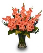 GLORIOUS GLADIOLUS  Flower Vase in Baton Rouge, LA | TREY MARINO'S CENTRAL FLORIST & GIFTS