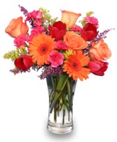 VERY BERRY PUNCH Fresh Floral Vase in Milton, MA | MILTON FLOWER SHOP, INC