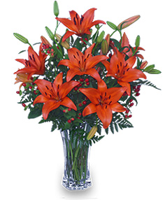 AUTUMN VIBRANCE Lily Arrangement