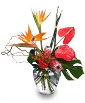 EXOTIC FLORAL VASE of Fresh Flowers in North Charleston, SC | MCGRATHS IVY LEAGUE FLORIST