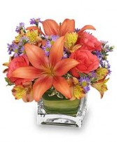 FRIENDLY FALL BOUQUET Flower Arrangement in Olathe, KS | THE FLOWER PETALER
