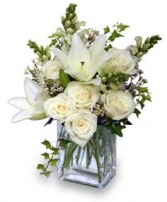 WONDERFUL WHITE Bouquet of Flowers in West Hills, CA | RAMBLING ROSE FLORIST