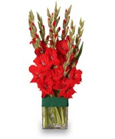 HOLIDAY FLAME Flower Arrangement in Michigan City, IN | WRIGHT'S FLOWERS AND GIFTS INC.
