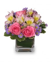 PRETTY AS YOU PLEASE Vase of Flowers in Paulina, LA | MARY'S FLOWERS & GIFTS