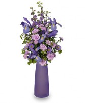LYRICAL LAVENDER Vase of Flowers in West Hills, CA | RAMBLING ROSE FLORIST
