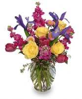WATERCOLOR FLOWERS Arrangement in Plentywood, MT | THE FLOWERBOX