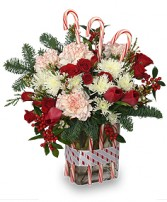 PEPPERMINT PLEASURES Deluxe Christmas Bouquet in Naperville, IL | DLN FLORAL CREATIONS