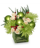 GLAMOROUS GREEN Holiday Bouquet in Naperville, IL | DLN FLORAL CREATIONS