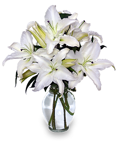 Casa Blanca Lilies Arrangement in West Hills, CA | RAMBLING ROSE FLORIST