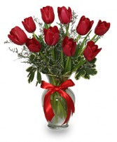 ROMANTIC RED TULIPS Arrangement in Hillsboro, OR | FLOWERS BY BURKHARDT'S