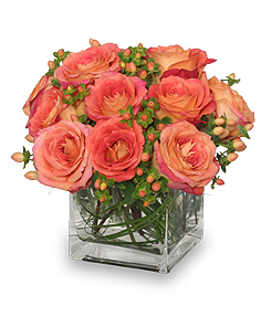 Just Peachy Roses Arrangement in Danville, KY | A LASTING IMPRESSION