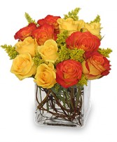 PHOENIX FLAME Rose Arrangement in Frisco, TX | SIMPLY BLESSED FLOWERS & GIFTS