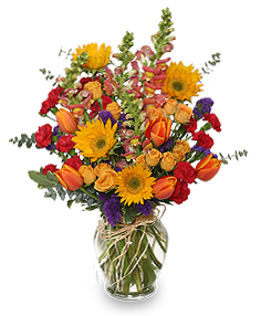 Fall Treasures Flower Arrangement in Richland, WA | ARLENE'S FLOWERS AND GIFTS