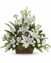 All White Peaceful Basket
