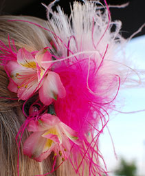 Pink & White Prom Hair Clip Prom Accessories