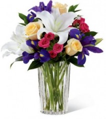 Give Her Iris Mother's Day Bouquet
