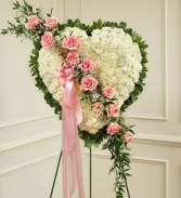 Always in our Hearts    funeral  Heart Wreath