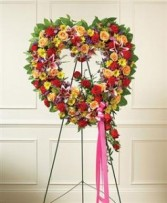 Always Remember Floral Heart Tribute - Bright Funeral
