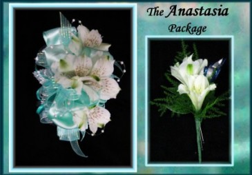 Anastasia Package Wrist corsage and Boutonniere