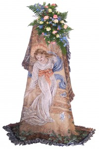 Angel Tapestry Sympathy Arrangement/Funeral Flowers
