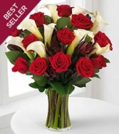 Beautiful Callys & Roses Bouquet romance
