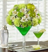 Martini Bouquet Apple-Tini 1800 flowers Martini Bouquet