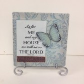 As for Me & My House Plaque Gift