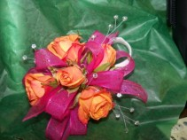 Assorted corsages Prom