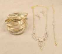 Assorted Gold Vintage Jewelry