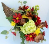 Autumn Cornacopia Fresh flower centerpiece