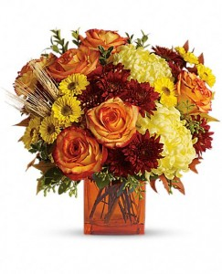 Autumn Expression Fall Flower Arrangement in Burbank, CA | LA BELLA FLOWER & GIFT SHOP