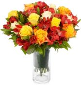 AUTUMN  SUNRISE ROSE   BOUQUET in Rockville, MD | ROCKVILLE FLORIST & GIFT BASKETS