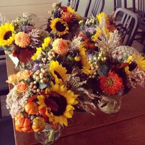 Sunflower Autumn  Vase Arrangement
